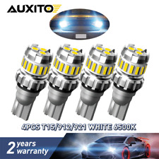 AUXITO 4pc T15 921 912 LED Reverse Backup Light Bulb 2400LM 6500K Super Bright