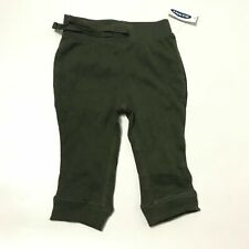 Old Navy Boys Sweatpants Drawstring Waist Solid Olive Green Size 6-12M Nwt K5