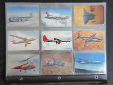1955 F285 3-Minute Oats AIRPLANES Cereal Insert Non-Sport Cards Set (32)