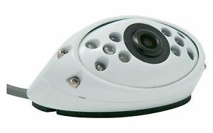 Carguard 120° Farb-Rückfahrkamera Kompakt Weiss 12 V Kamera Camping Kleinbus