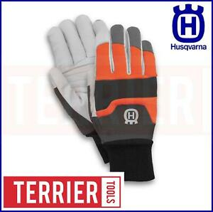 Original Husqvarna Protective Gloves, chain saw protection SIZE 10 LARGE