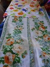 lot 2housses neuves a fleurs,,coussin rectangulaire 79x52cm