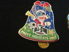 Disney WDW Happy Holidays 2007 All Star Resort Stitch Bell Pin LE 750