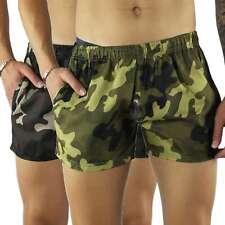 Costume da Bagno Uomo Boxer Camouflage Pantaloncino Bermuda Mare Mimetico