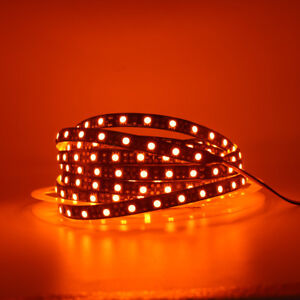 Orange 60led/m LED Strip Light 600NM 5050 waterproof Flexible tape string lamp d