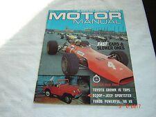 Australian Monthly Motor Manual Magazine May 1968