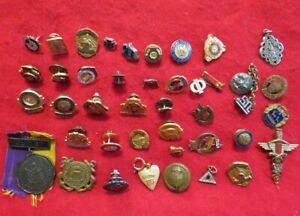 Big Lot of Various Organization and Society Insignia and Pins, etc.