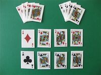 PRE CUT 16 EDIBLE RICE WAFER CARD PLAYING CARDS CASINO CARD CUPCAKE TOPPERS