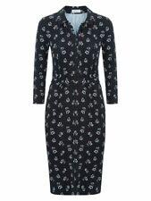 """💖 HOBBS 💖 """"Anna""""  Jersey Shirt Dress with Tie Belt Sz10 Excellent Cond"""