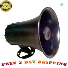 Black Abs Weather Proof Pa Speaker Horn Cb Radio, Outdoor, Marine, Game Call 15w