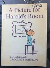 1973 A Picture For Harold's Room Vintage Scholastic Book Paperback So Cute!