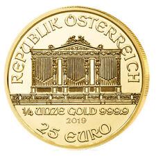 1/4 oz Gold Wiener Philharmoniker 2019 - 25 Euro Österreich Goldmünze 999,9