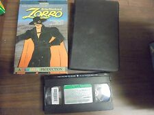 """USED VHS  RARE """"The New Adventures OF ZORRO"""" 1981"""