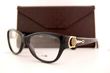 Brand New GUCCI Eyeglass Frames 3714 D28 0D28 Black Shiny Women 100% Authentic