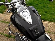 ( Honda Shadow VTX 1300 Leder Tankpad Abdeckung Riemen Panel BH Lätzchen