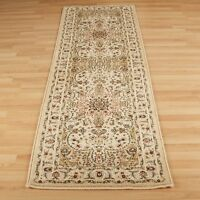 Cream Beige Traditional Classic Oriental QUALITY Hall Rug Runner 100% Wool 35%OF