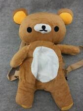 Cute Rilakkuma Bears Kawaii Soft Furry Plush HandBag Backpack Bag School Bag T1