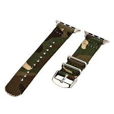 Army Camo - 2 Piece Classic SS Nylon Watch Band for 38mm Apple Watch