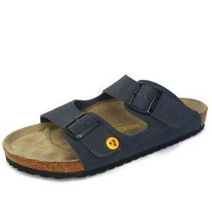 Birkenstock Arizona ESD Work Safety Blue Birko-Flor Sandals Mens Size 45 EU 12