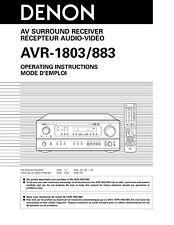 Denon AVR-1803 AV Surround Receiver Owners Manual