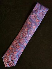 """TED BAKER MENS NEW BLUE PAISLEY 100%SILK CLASSIC NECK TIE WIDTH:3 1/8"""""""