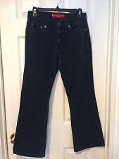 Levis 515 womens jeans Size 8 M-Dark wash blue denim- Boot cut Stretch -EXLLNT!