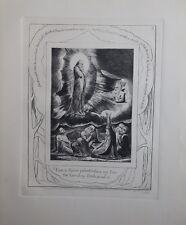 William BLAKE - Apparition du saint - Gravure N&B - Livre de Job  - Bible #1902