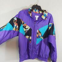 Vintage Purple Geometric Athletic Jacket