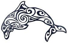 Wall Decor Dolphin Swirl 65cm Metal Marine Theme Nautical Sea Art Beach Decor