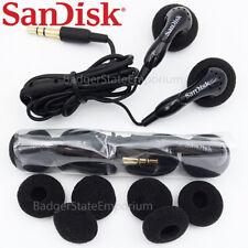 2 GENUINE SanDisk Earphone Earbuds Original In-Ear Headphone Clip Jam MP3 Player