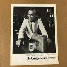 New listing Black Watch Cologne Print Ad 1966 - Prince Matchabelli Vintage 10 1/4 x 13 1/2