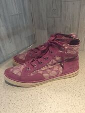 Coach Pink Ladies High Top Trainers Sz7/40