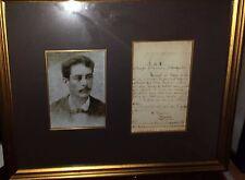 Juan Bruno Zayas CUBAN FRAMED signed 1896 CUBA historical Maceo Maximo Gomez