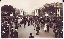 France Paris Event Les Fetes de la Victoire 1-e Juillet 1919 real photo postcard