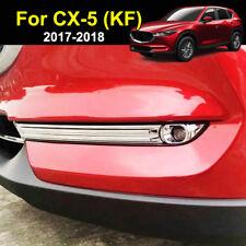 For Mazda Cx-5 Cx5 2017 2018 Chrome Front Head Fog Light Lamp Cover Trim Molding