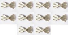 LOT OF 10 Cream Men's Adjustable Bowties/Bow tie Tuxedo Wedding