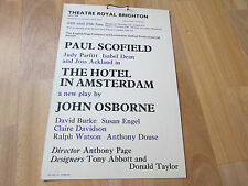 The HOTEL in AMSTERDAM  inc Joss Ackland Theatre Royal  BRIGHTON Original Poster