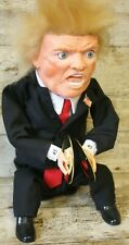More details for rare collectable donald trump talking & moving 12inch figure charley cymbals
