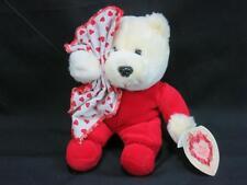 VINTAGE COMMONWEALTH BE MY VALENTINE BABY RED PAJAMA SECURITY BLANKET PLUSH BEAR