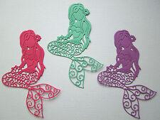 Mermaid Paper Die Cuts x 8 Girls Birthday Scrapbooking Card Topper Embellishment