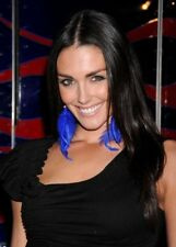 Taylor Cole Blue Feather Earrings 8x10 Photo Print