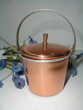 Copper & Brass Jam Jelly Condiment Pot Jar with Stainless Steel Spoon