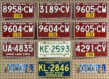 10 MICHIGAN Colored License Plates Tags Crafts Art Man Cave Decor 2 PAIR LOT 958