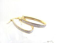 boucles doreilles or jaune 18 carats-750/1000 Gold