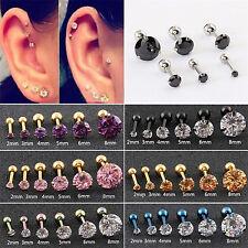 High Fashion Women Drop Jewelry Ear Stud Titanium Steel Cubic Zirconia Earrings