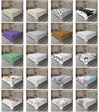 Ambesonne Cat Flat Sheet Top Sheet Decorative Bedding 6 Sizes