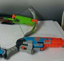 Nerf Zombie strike Crossfire Bow + Nerf Zombie strike sledgefire bow
