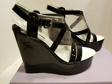 VERA WANG Lavender Women's Pippa Wedge, Black size 9.5 M