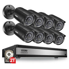 Zosi 16Ch 16 Channel Dvr 2Tb Hybrid Hd 720P Hdmi 8 Cctv security camera System