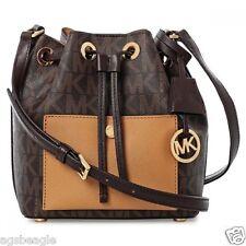 Michael Kors Bag 30H5GG1M1V MK Greenwich Small Bucket Bag Brown Peanut Agsbeagle